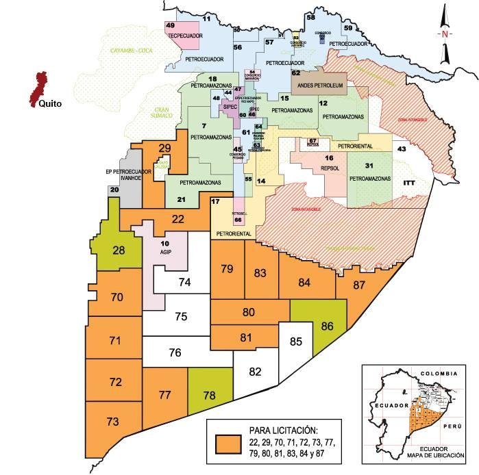 Oil in ecuadorpetrolera en ecuador chakana chronicles map gumiabroncs Choice Image