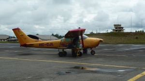 Sarayaku sólo se puede llegar por avión o barco