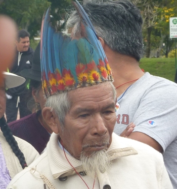 "The Sarayaku ""yachak"" or shaman, Sabino Gualinga"