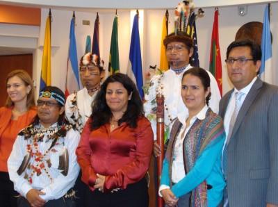 Sarayaku en la CIDH (imagen cortesía de Sarayaku)