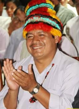 Shuar Federation President Agustín Wachapa. Photo credit: CONFENAIE