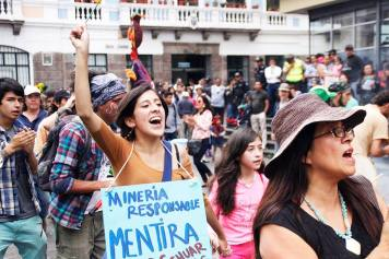 Quito protest, photo credit Resistir Es Mi Derecho