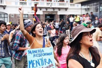 Quito protest, photo credit Resistir Es Mi Derecho